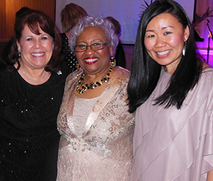 Carole with Thelma Wells and Sharon Kon
