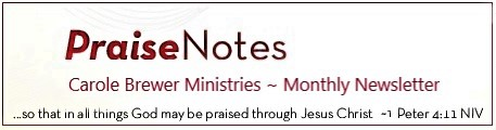 Sign up for Praise Notes Newsletter
