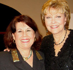 Carole with Terri Meeuwsen, 700 Club